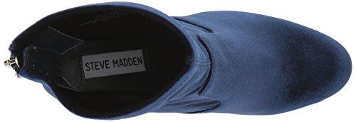 Ankle Madden Women's Navy Velvet Bootie Brisk Steve U18awnqtt