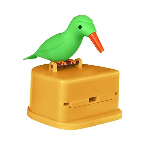 Smart toothpick box automatically picks up toothpicks, Creative pressing automatic toothpick box Bird toothpick box (Toothpick Bird Dispenser)