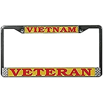 GIVE BACK LOVE THANK A SOLDIER METAL MILITARY License Plate Frame Tag Holder