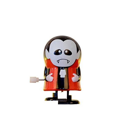 (Matoen Halloween Clockwork Gift Wind Up Bounce Toy Props Toy Jumping Pumpkin Monster Clockwork Robot (A,)
