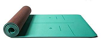 EVEYYGD 6 MM de TPE Grueso Línea de posición Estera de Yoga ...