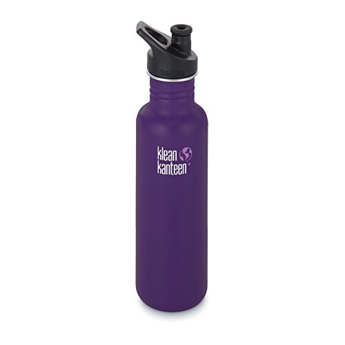 Klean Kanteen Classic 27oz w Sport Cap 2016 Water Bottle One Size Berry Syrup
