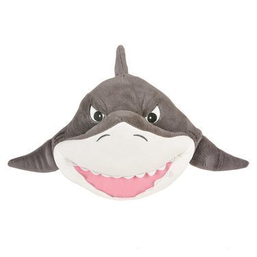 One Plush Great White Shark Plush Throw Pillow - 11'' by Adventure Planet