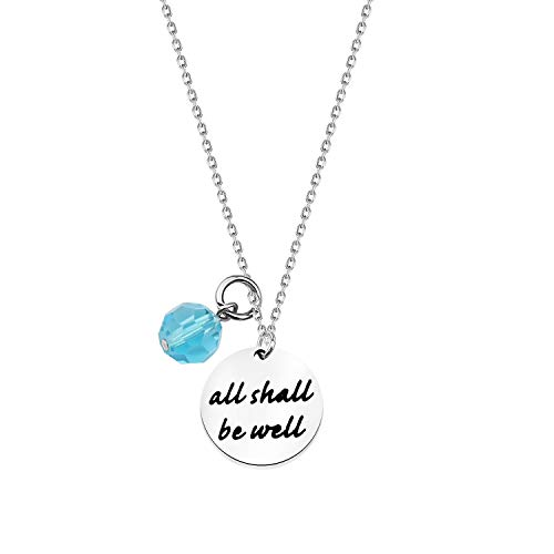 All Shall Be Well Necklace Julian of Norwich Quote Necklace Reminder Necklace Gift (Necklace)