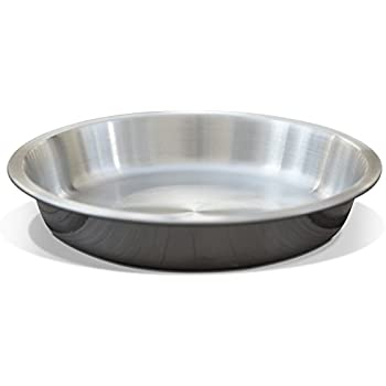 PetFusion Cat Dish for relief of Whisker Fatigue. [Shallow 13 oz brushed U.S. FOOD GRADE Stainless Steel bowl]