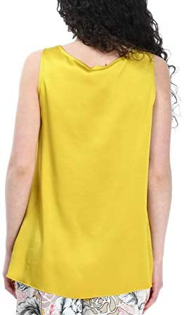 MALÌPARMI Fashion Woman JP53305012360119 Yellow Viscose Tank Top | Season Outlet