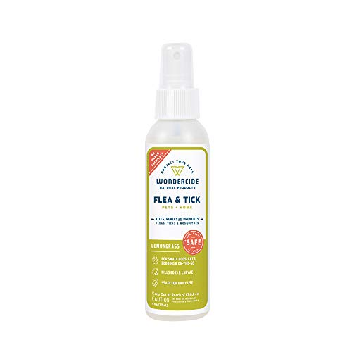 Wondercide Natural Flea & Tick Control for Pets Home - Cedar & Lemongrass - 4 oz