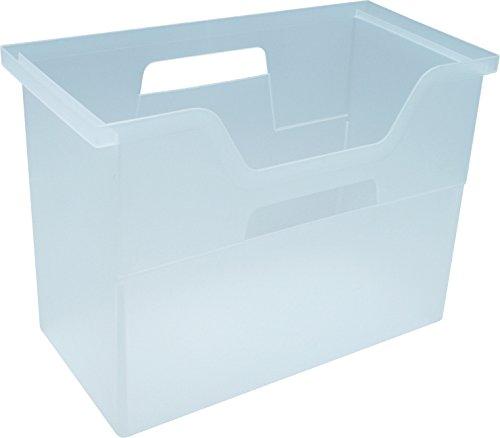 IRIS Desktop File Box, Medium, Clear