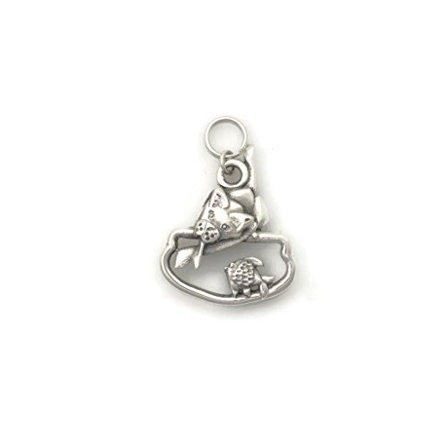 Sterling Silver Siamese Cat Charm, Silver Siamese Cat Pendant fr Donna Pizarro's Animal Whimsey Collection of Unique Cat Jewelry