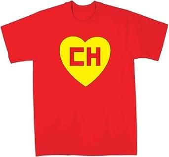 EL Chapulin Colorado EL Chavo CH T-shirt (Youth Small (6-8), Red)