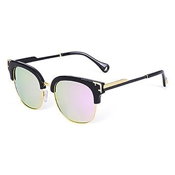 LLZTYJ Gafas De Sol/Gafas De Sol Polarizadas Medio Marco Gafas De Sol Brillantes Gafas