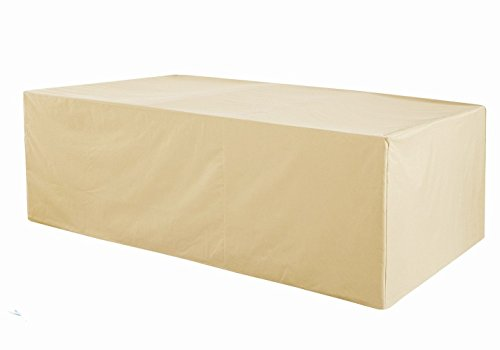 Grand Patio Rectangular Patio Table Cover, Weather-Resistant Patio Table and Chair Covers, Waterproof and Durable Patio Dining Set Cover, Large Size, Beige Patio Outdoor Table Grand