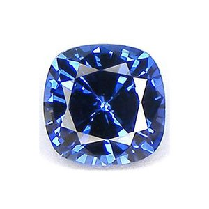 Blue Cushion Created Sapphire Loose Unset Gemstone 8mm (1) from uGems