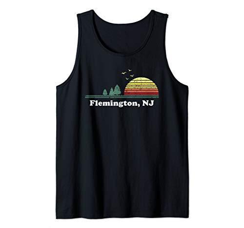 Vintage Flemington, New Jersey Home Souvenir Print Tank Top (Shops Flemington)