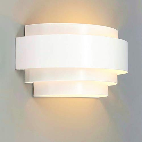 LIGHTESS Modern Sconce Light 5W Hardwired LED Wall Lights Up Down Wall Lamp Indoor for Bedroom Hallway, Warm White, 3000K (Baja Metal Sconce)
