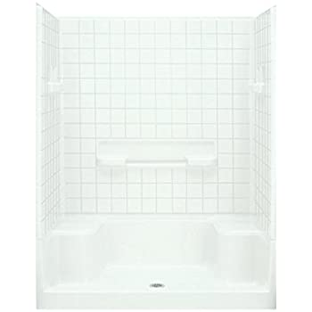 Sterling Plumbing 62040100-0 Advantage Shower Kit, 60-Inch x 34-Inch x 77.25-Inch, White