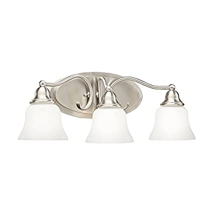 Kichler Lighting 3 Light Satin Nickel Integrated Led Bathroom Vanity
