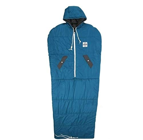 VINSONMASSIF Wearable Sleeping Bag for Camping, Hiking and Outdoors (Turkey blue) ()