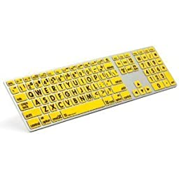 LogicKeyboard Large Print Apple Advance Keyboard, Black on Yellow