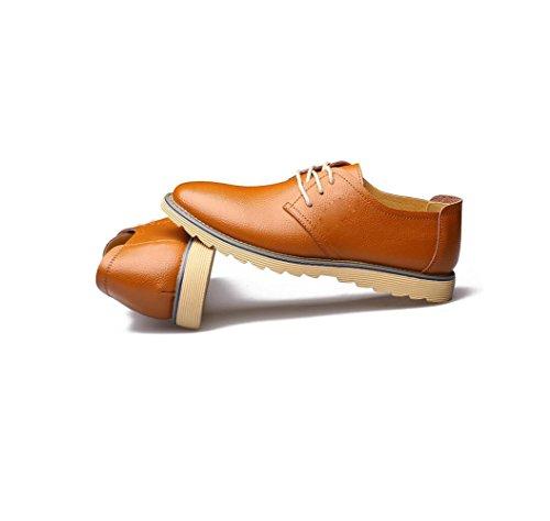 Ruban Business Casual De Bottes Round Soft Toile Yellow Pointy Chaussures Cuir Couleur en Sandales Saison Homme Sport nxwA8wTq41