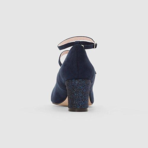 Navy Donna R Paillettes La Stile Tacco Scarpe Redoute Cinturino con Mademoiselle Doppio Baby xggnpW17w
