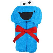 Baby hooded Towel ~ Cookie Monster by Triboro Quilt Mfg Co
