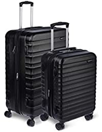 "Hardside Spinner Luggage - 2 Piece Set (20"", 28""), Black"