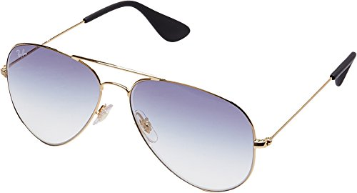 Ray-Ban 0rb3558001/1958metal Unisex Aviator Sunglasses, Gold, 58 mm by Ray-Ban