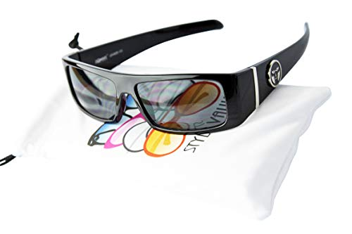 Kd3092 Kids Toddlers boys (1~5 year old) Gangster Biker Sunglasses (Piano Black, 48)