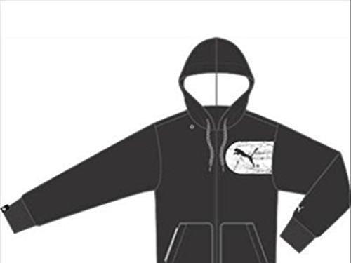Hooded Et blanc nbsp;veste Puma Homme Pour nbsp;– Noir Jkt Temps De Graphic Libre aXRqq5xH