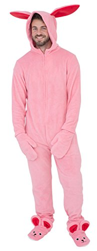 Briefly Stated A Christmas Story Bunny Union Suit Pajama Costume (Adult 3X-Large) Pink -