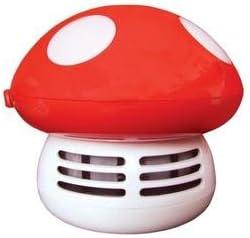 Aspirador de mesa-Recogemigas diseño de seta, color rojo: Amazon ...