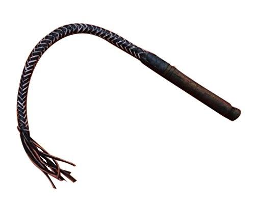 professionelle pferdepeitsche/flogger peitsche, schwarze/70 cm