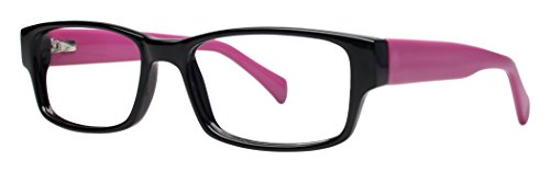 Chill Unisex Youth Eyeglasses - Modern Collection Frames - Black/Pink 52-17-140