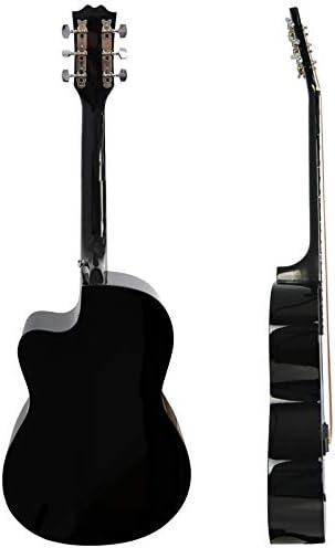 3rd Avenue STX10CABKPK Paquete de Guitarra Acústica Cutaway, Negro ...