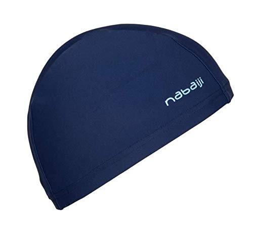 Nabaiji MESH Fabric Swim Cap - Navy Blue - Youth Teenage
