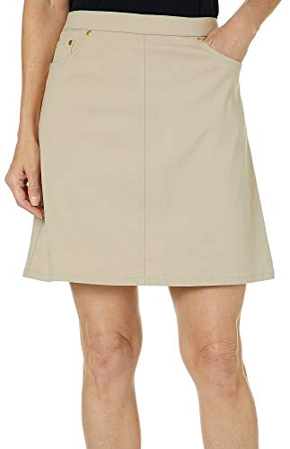 Hearts of Palm Womens Essential Solid Tech Stretch Skort 18 Chino tan