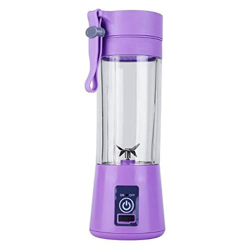 380ml USB Rechargeable Blender Mixer 6 Blades Juicer Bottle Cup Juice Citrus Lemon Vegetables Fruit Smoothie Squeezers Reamers,Purple (Best Citrus Juicer India)