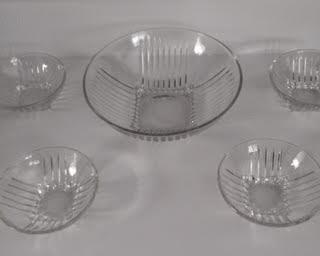Federal Glass Park Avenue Dessert Bowl Set