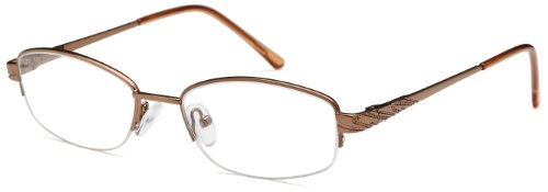 Womens Thin Prescription Glasses Frames Rxable in Half Rim - Frames Women Online For Glasses