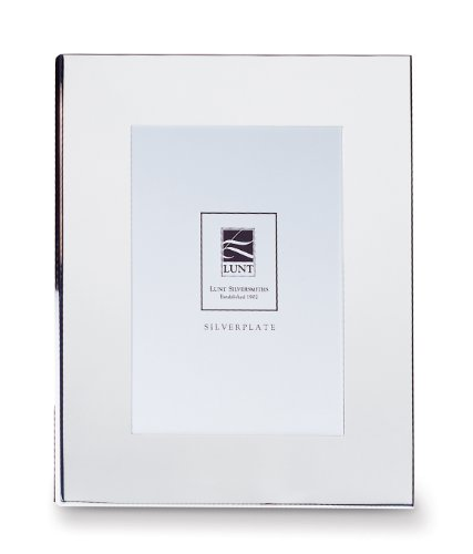 Lunt Wide Border Silver Plated Picture Frame, 4 by 6-Inch