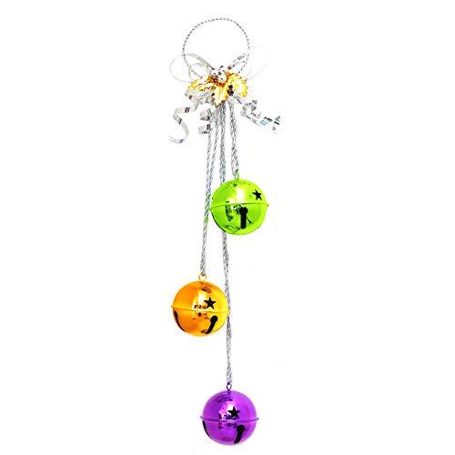 Wansan 1pc Christmas Door Hangers Jingle Bell Hangers with Bow Christmas Holiday Door Knob Hanger Decoration