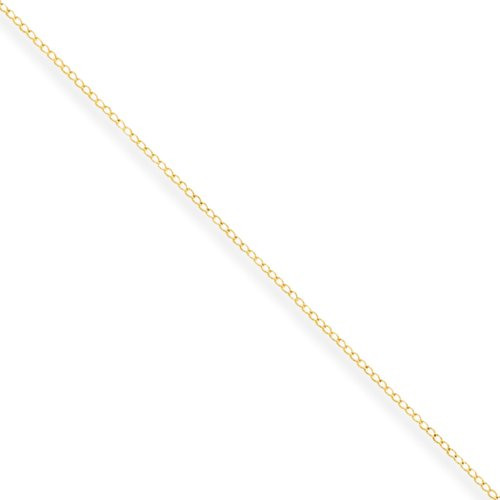 0.51mm, 14k Yellow Gold, Curb