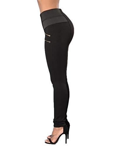 las deportivos las cintura que de mujeres pantalones mujeres elásticos color del para Polainas de Blanco Pantalones adelgazan sólido alta c86tqwdTTx