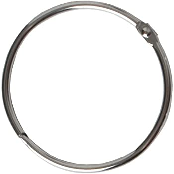 Maytex Metal Circular Shower Ring, Chrome, Set of 12