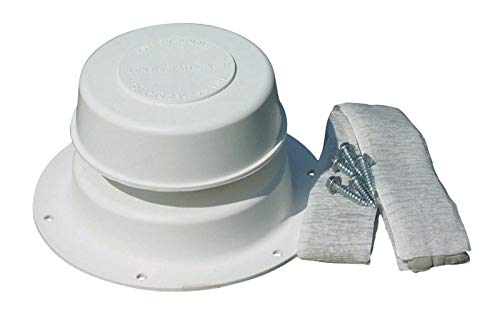 Camco 40033 White Replace-All Plumbing RV Vent Kit