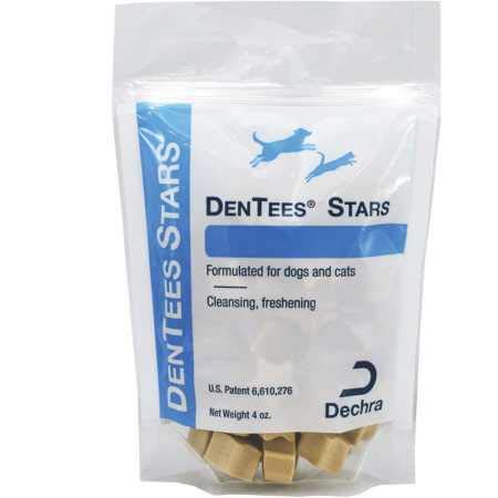 Dentees Chews - DermaPet Dentees Stars DentAcetic Pet Treats