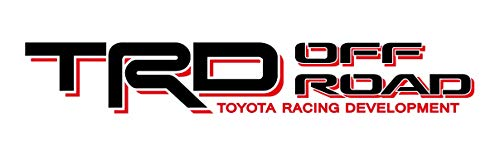 (Noa Store Toyota TRD Truck Off Road 4x4 Toyota Racing Tacoma Decal Vinyl Sticker (Black/RED))