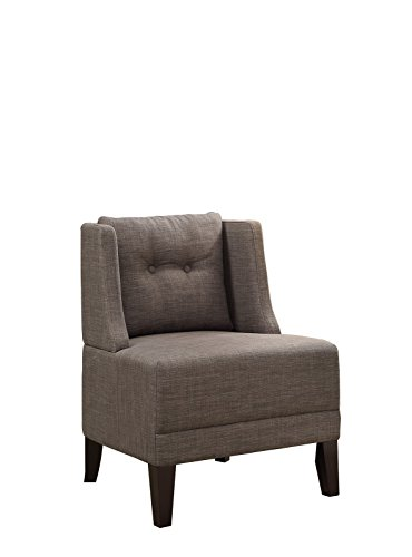 Poundex Bobkona Prissy Accent Chair in Brown, 0
