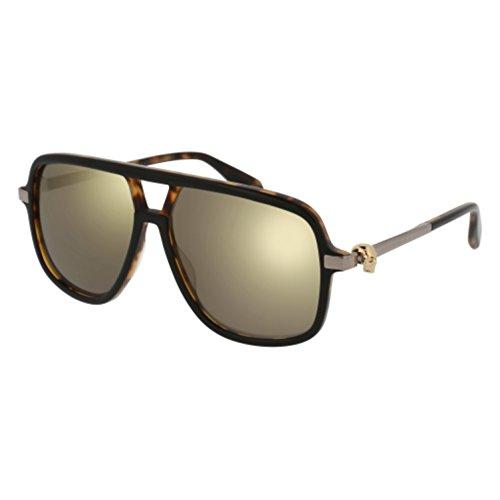 Sunglasses Alexander McQueen AM 0080 S- 001 BLACK / BRONZE - Men Alexander Sunglasses Mcqueen For